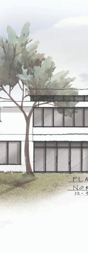 Exterior elevation illustration for Tim Barber Ltd.