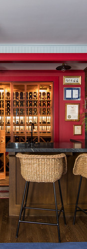 home bar and wine room