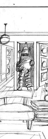 interior design and architecture sketch illustration