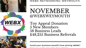 WEBX Nov 2109 - 5 New Members, Business Leads, Referrals & A Charitable Donation...
