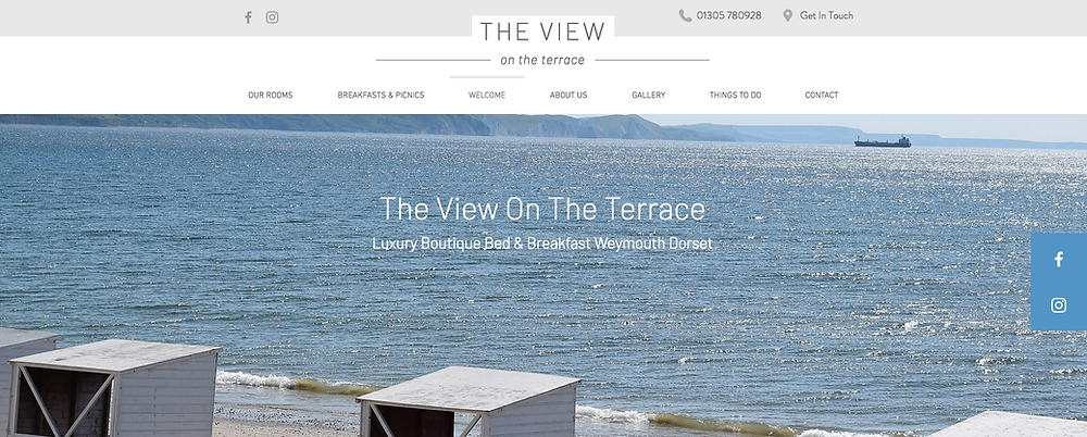 The View on The Terrace Website Design by weCREATE web designer Weymouth Dorset