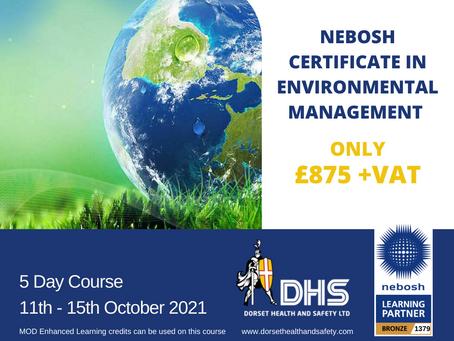 NEBOSH Certificate in Environmental Management October 21