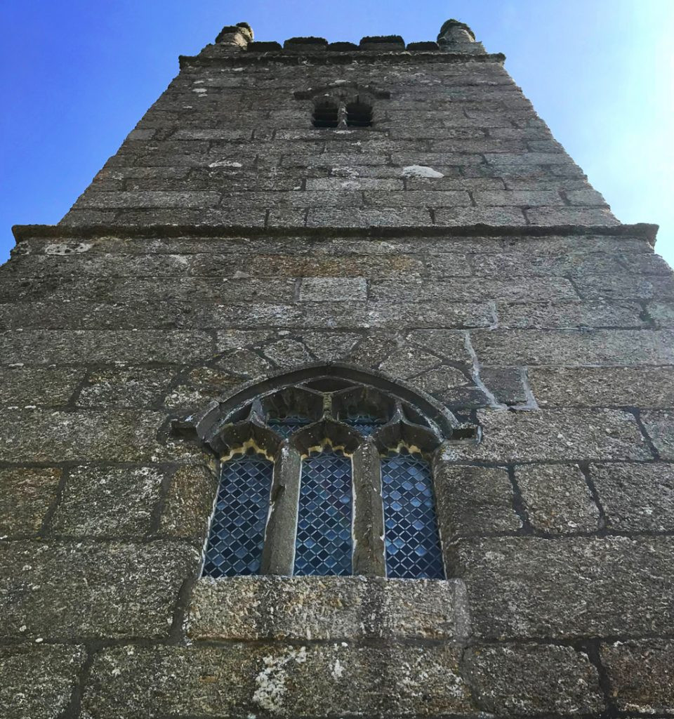 Circular-Walk from Porthcurno Beach Cafe, Porthcurno, Cornwall, UK. St Levan Church Tower