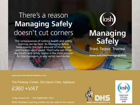 IOSH MANAGING SAFELY COURSE - Salisbury 1st September