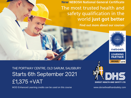 NEBOSH National General Certificate Course 6th September 2021