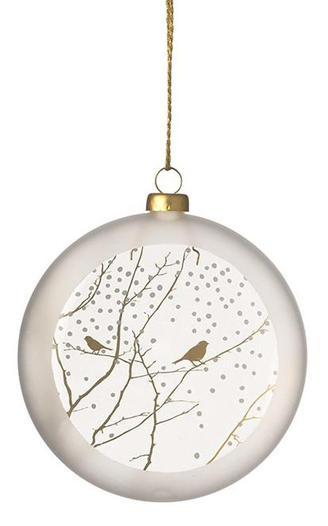 Frosted Glass Bauble Branches by Rader Design