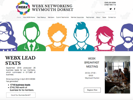 WEBX - Weymouth Business Exchange website get's a new look...
