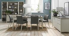 Bergen Grey and Soft Oak Dining Furnitur