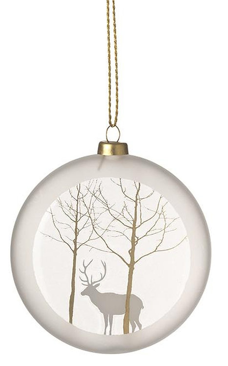 Frosted Glass Bauble Deer by Rader Design