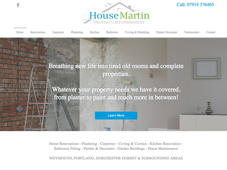 Housemartin Property Refurbishment Website Launch