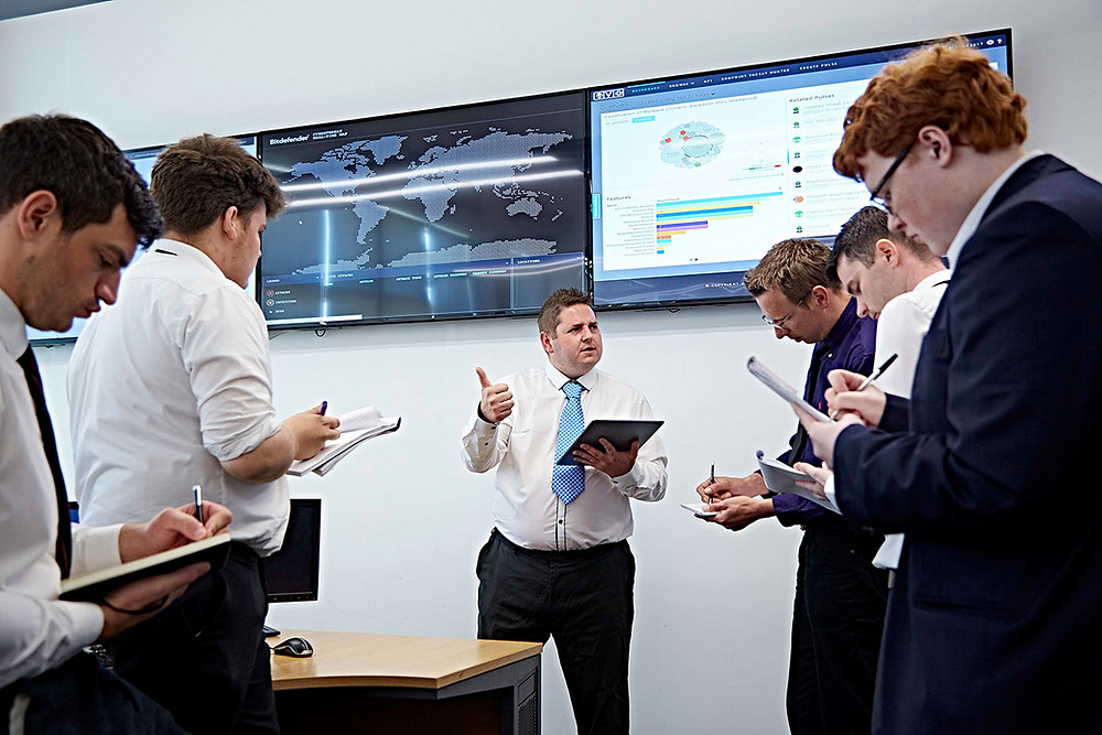 BIT Security winning apprentices seen here in Security Operation Centre