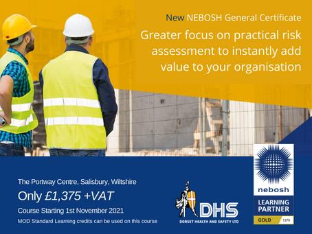 NEBOSH National General Certificate Course 1st November 2021