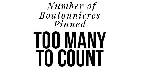 Number of Boutonnieres Photographer team