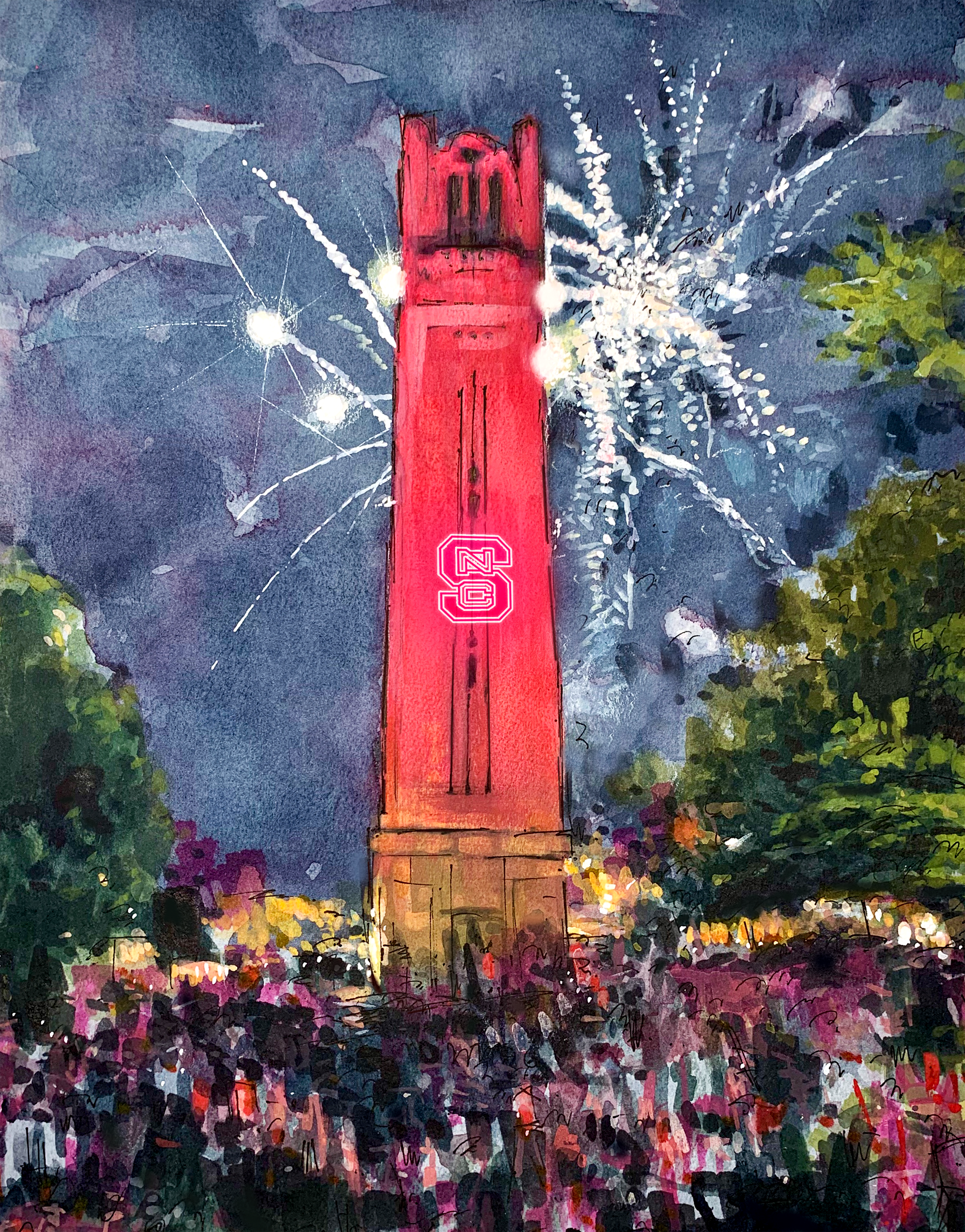 NC State - Bell Tower Lit