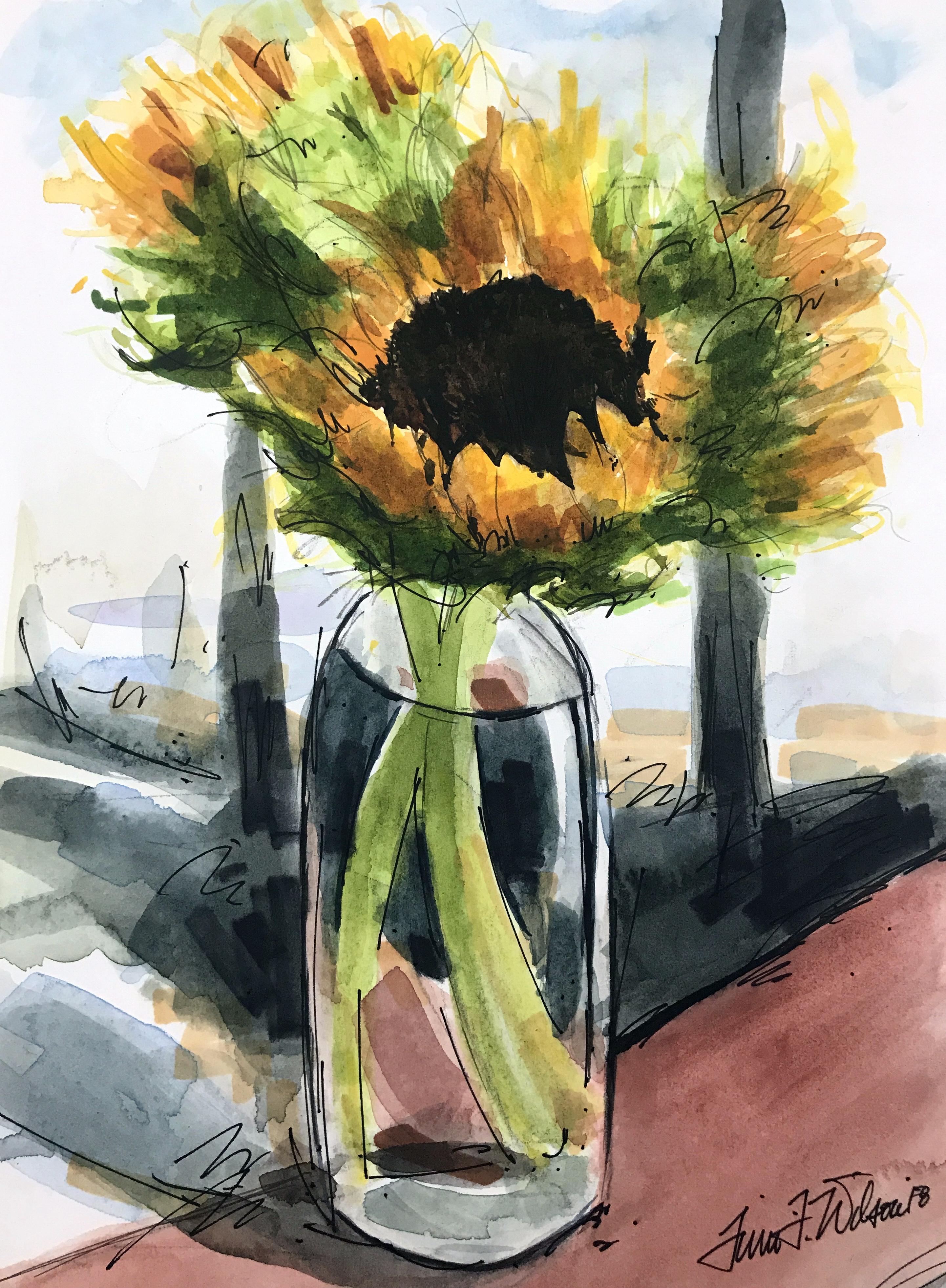 Winter Sunflowers
