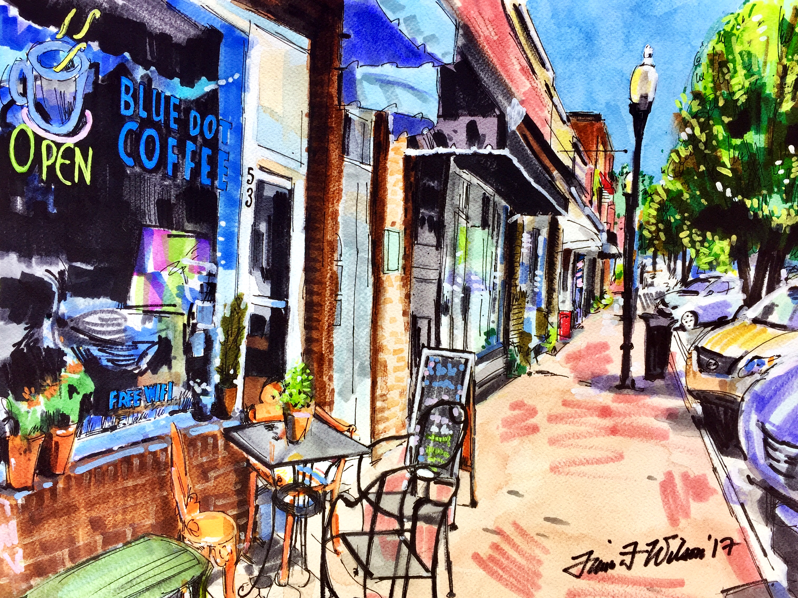 Blue Dot Coffee, Pittsboro, NC