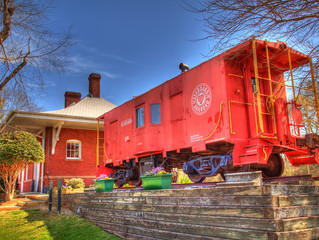 By request - Apex Seaboard Railroad Caboose on deck!