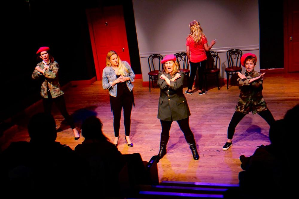 Sanna Erica performing sketch comedy