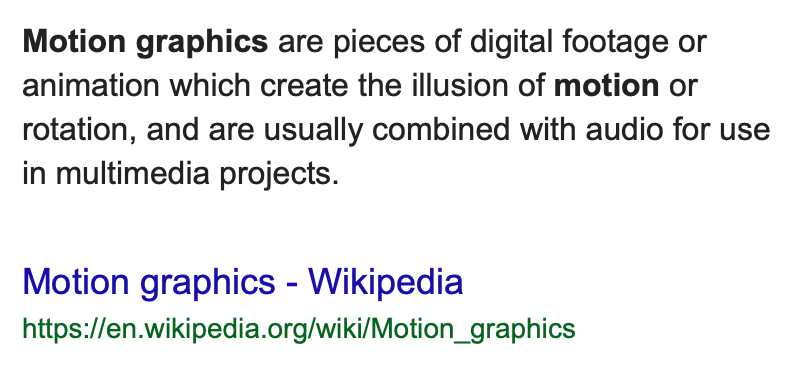 What Are Motion Graphics?