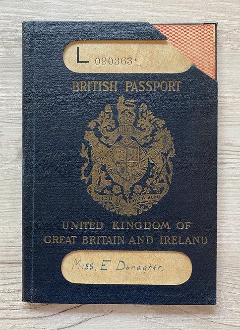United Kingdom 1923 passport cancelled at New York & US visa