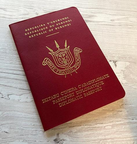 Burundi 1990 Diplomatic passport of Mr S. Ntibantunganya, President of Burundi