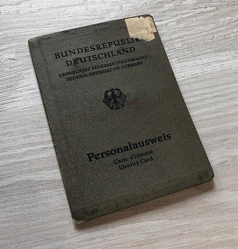 Germany ID card 1962