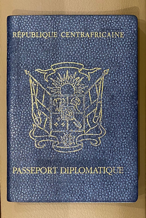 Central African Republic 2005 Diplomatic full of visas GREAT DOCUMENT!!!