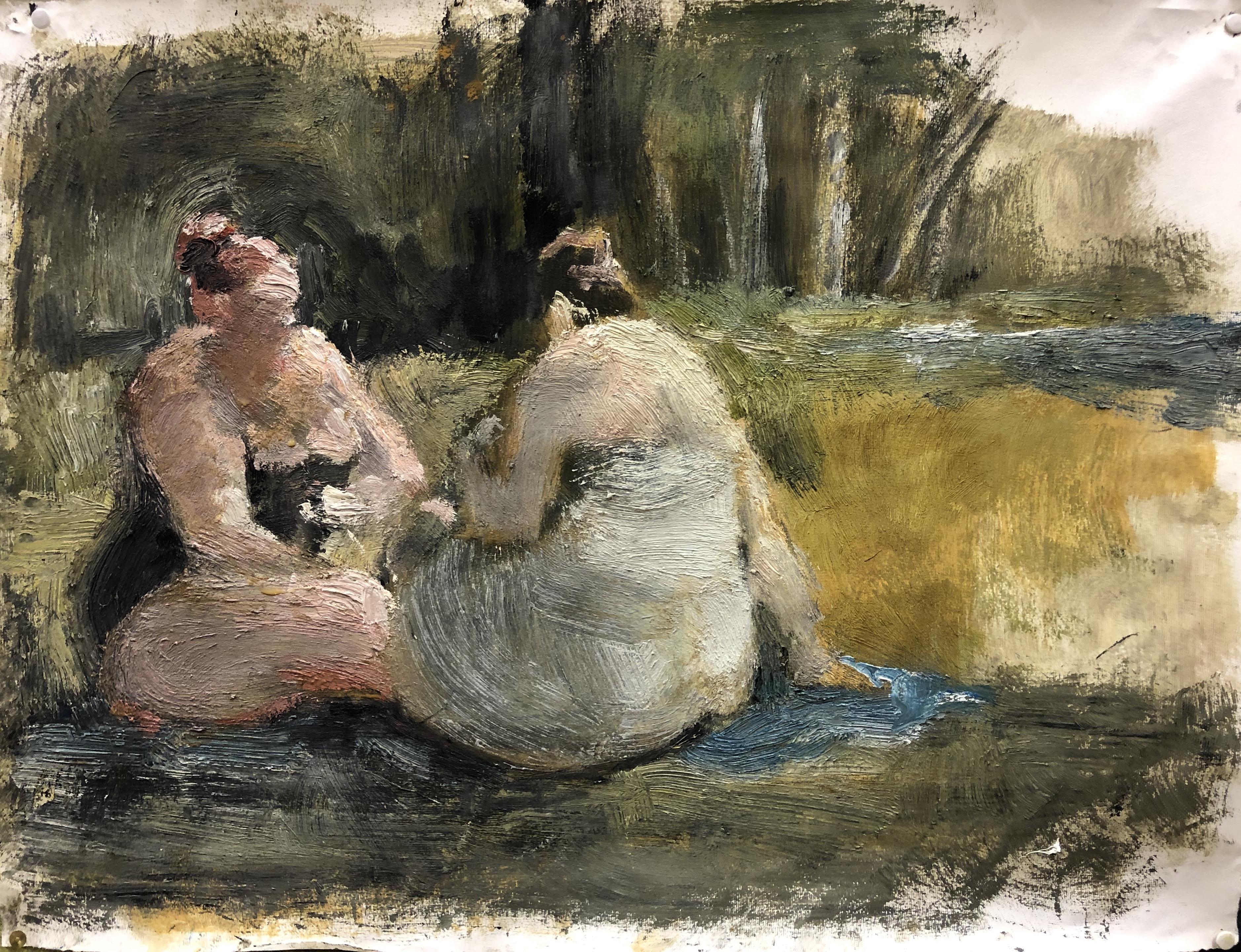Zwei badende Damen