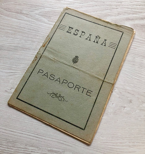 Spain 1925 issued for travel to France