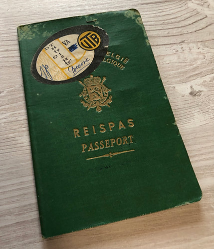 Belgium 1952 with Italy, France, Spain visas