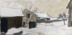 Bauernhof im Winter