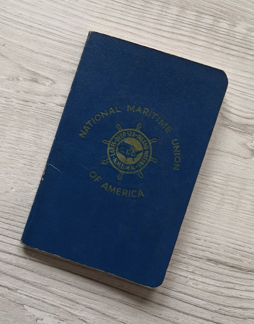 United States WW2 1944 National Maritime Union of America membership book