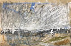 Landschaft vom Zug aus gezeichnet