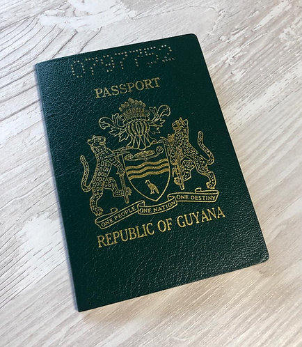 Guyana 1997 with US visa and high value revenue (small standard size)