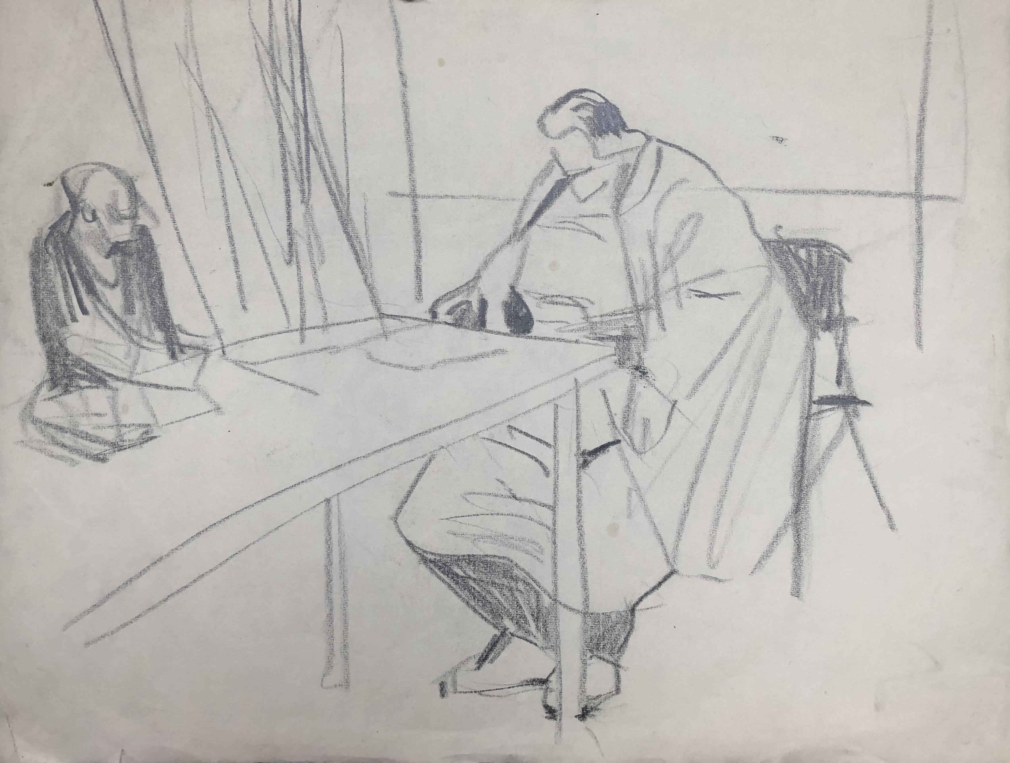 Prof. Gerda Fassl im Zeichensaal