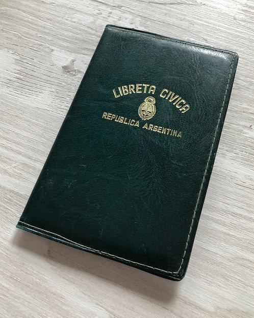 Argentina 1956 voter's registration card