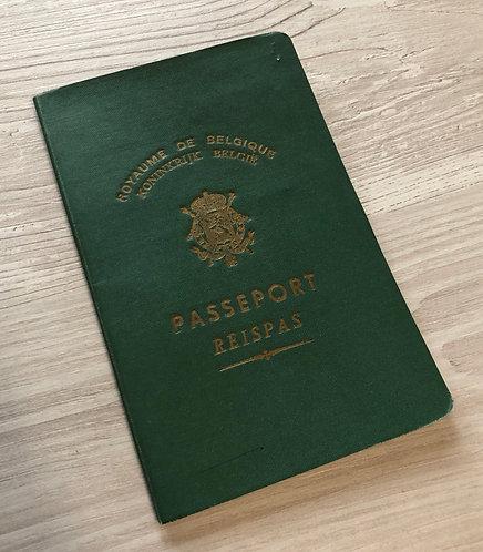 Belgium 1950 with Bruxelles visa