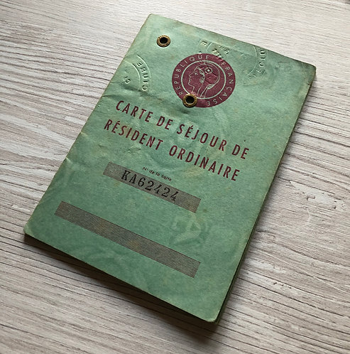 France 1959 residence ID-card for a Romanian Jew