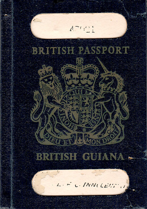 British Guiana 1961 colonial passport EXTREMELY RARE!!!