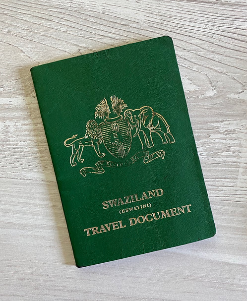 Kingdom of Swaziland Eswantini 2009 travel document full of South African visas