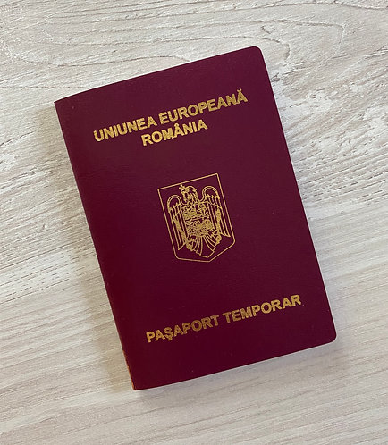 Romania 2018 temporary passport (mint condition)