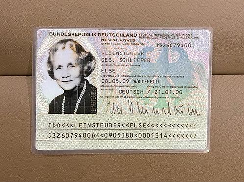 Germany 1990 identity ID-card