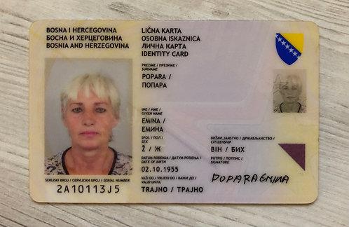 Bosnia & Herzegovina identity ID-card