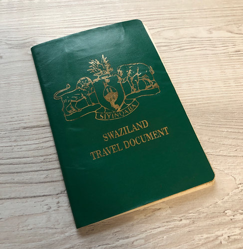 Swaziland 2000 travel document