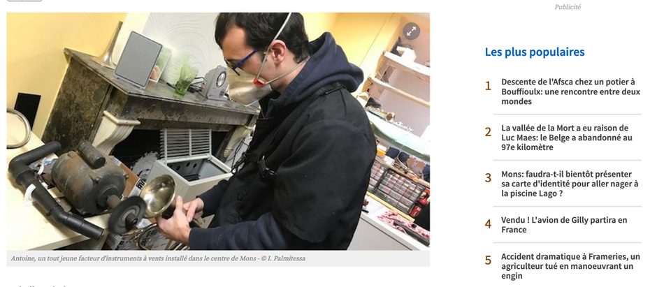 L'Atelier Musical  dans le fil info de la RTBF...