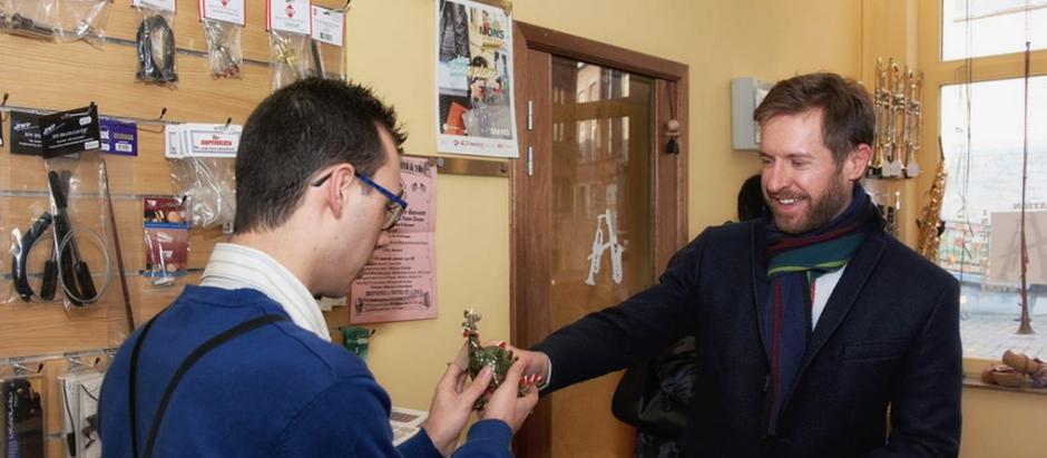 L'Atelier Musical reçoit la visite des Autorités communales montoises