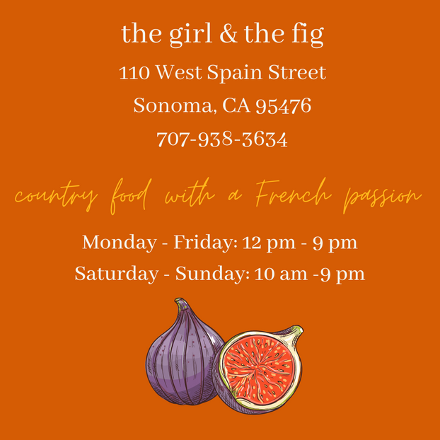 the girl & the fig temporary hours - wit