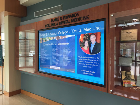 90-Inch Digital Donor Board Welcomes Patients and Visitors