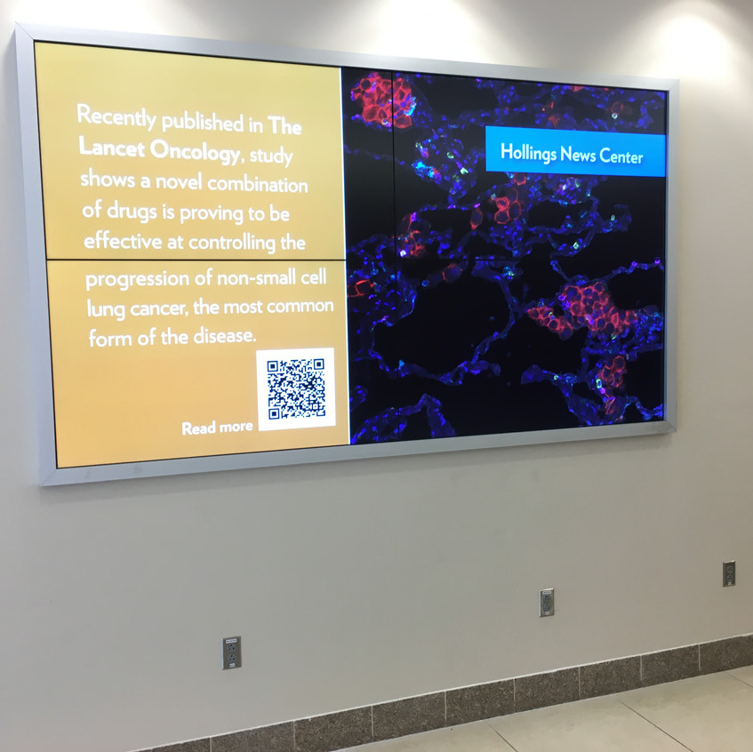 2x2 Video Wall with Digital Signage