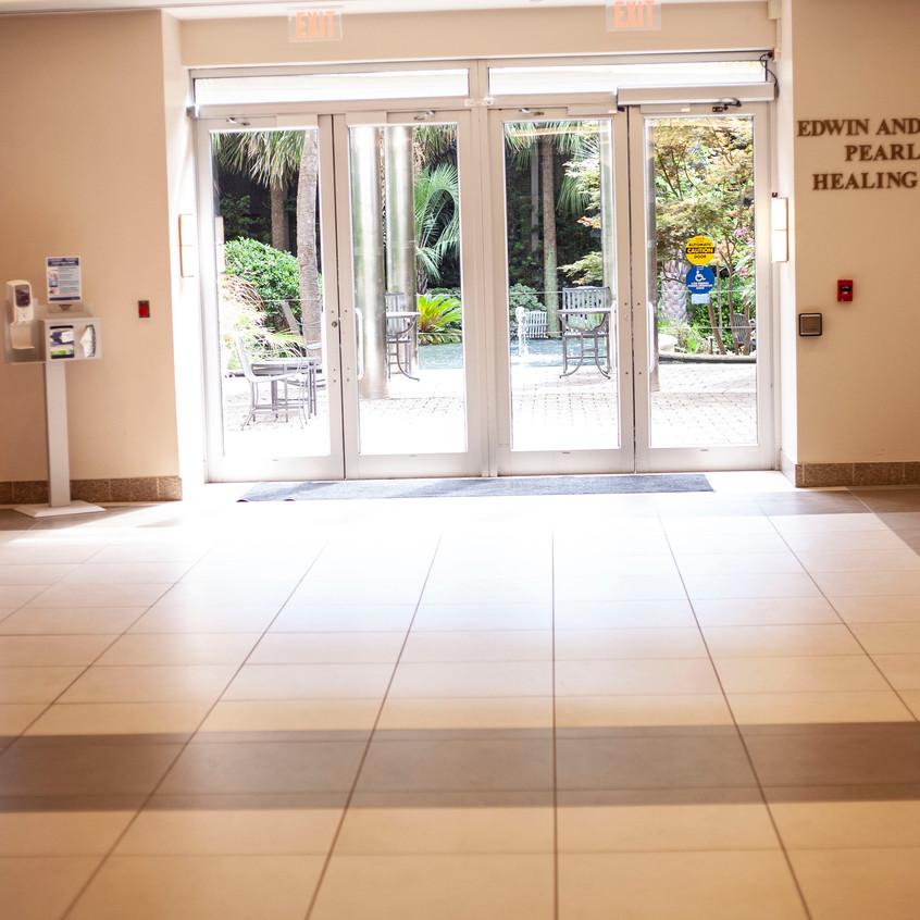 Pearlstine Healing Garden Entrance